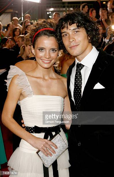 Jessica Tovey and Bobby Morley arrive at the 2007 TV Week Logie Awards at the Crown Casino on May 6 2007 in Melbourne Australia The annual television...