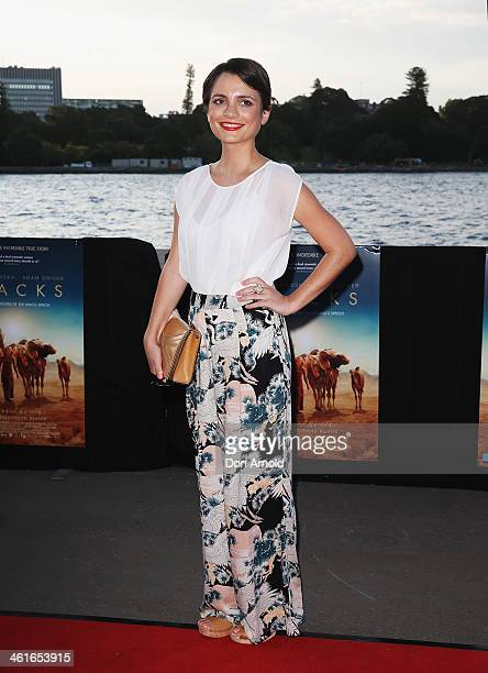 Jessica Tovey poses at the St George Openair Cinema Tracks premiere on January 10 2014 in Sydney Australia