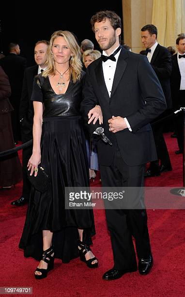 Jessica Trusty and her husband Aron Ralston arrive at the 83rd Annual Academy Awards at the Kodak Theatre February 27 2011 in Hollywood California