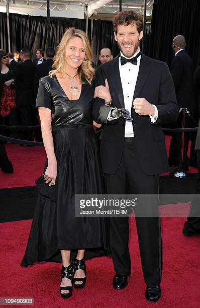 Jessica Trusty and writer Aron Ralston arrives at the 83rd Annual Academy Awards held at the Kodak Theatre on February 27 2011 in Hollywood California