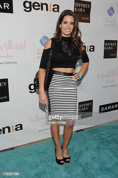 Jessica Uberuaga attends GenA And Michael Hogg Presents The Summer Soiree Of Season And The Agenostic Man Book Launch at Beverly Hills Hotel on July...