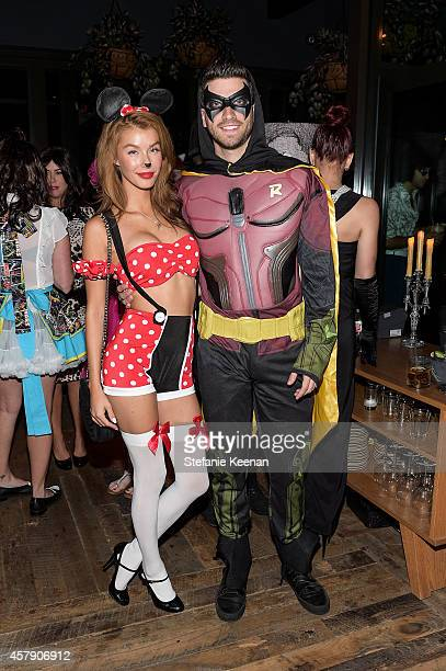 Jessica Vargas and Ryan Rottman attend Matthew Morrison's 5th Annual Halloween Party Presented By Freixenet at Hyde On Sunset on October 25 2014 in...