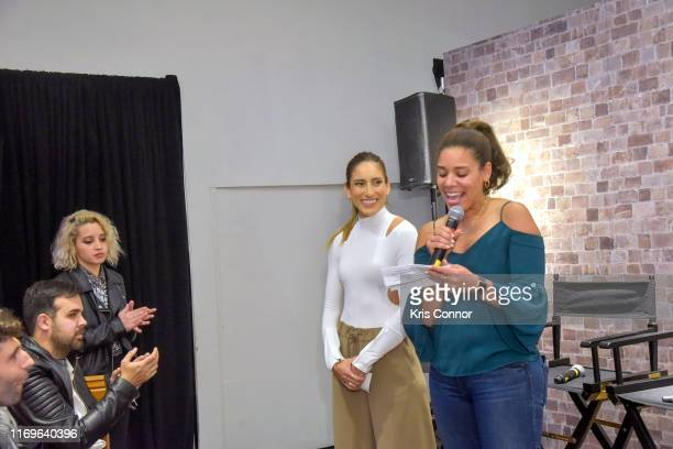 Jessica Vargas Director Multicultural Marketing at HBO speaks during a panel hosted by Melissa Ortiz with curators Cesar Martin Perez and Maria...