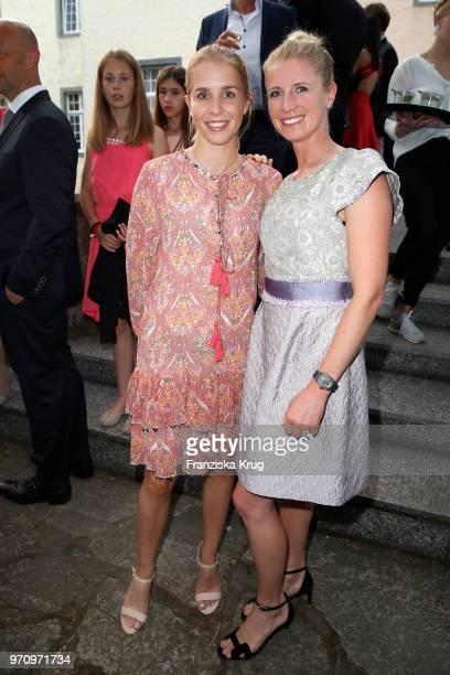 Jessica von Bredow-Werndl and Nina Neuer attend the Balve Optimum 2018 Gala on June 8, 2018 in Balve, Germany.