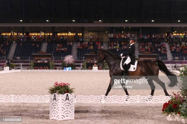 Jessica von Bredow-Werndl of Team Germany riding TSF Dalera competes in the Dressage Team Grand Prix Special Team Final on day four of the Tokyo 2020...