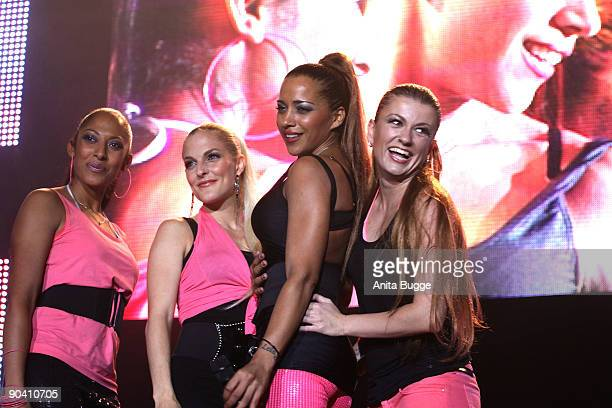 Jessica Wahls Sandy Moelling Nadja Benaissa and Lucy Diakowska of ''No Angels' perform live during the 'Stars for free' concert at Wuhlheide stadion...