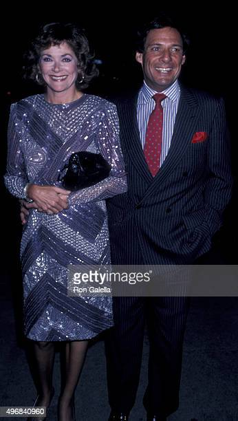 Jessica Walter and Ron Leibman attend 20th Anniversary of NOW on December 1 1986 at the Dorothy Chandler Pavilion in Los Angeles California
