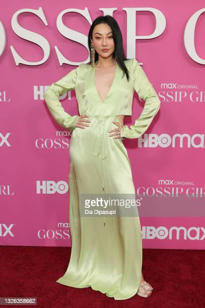 """Jessica Wang attends the """"Gossip Girl"""" New York Premiere at Spring Studios on June 30, 2021 in New York City."""