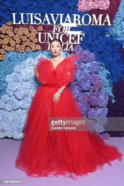Jessica Wang attends the LuisaViaRoma for Unicef event at La Certosa di San Giacomo on July 31, 2021 in Capri, Italy.