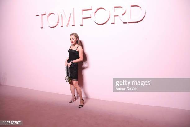 Jessica Wang attends Tom Ford FW19 Fashion Show at Park Avenue Armory on February 06 2019 in New York City
