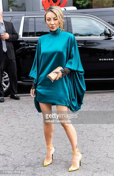 Jessica Wang is seen arriving to Carolina Herrera fashion show during New York Fashion Week on September 09, 2019 in New York City.