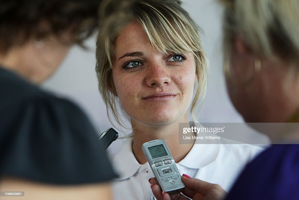 Jessica Watson attends a media conference to announce her next project, which is to skipper the youngest ever crew in the 2011 Rolex Sydney Hobart Yacht Race, at the Cruising Yacht Club of Australia on March 10, 2011 in Sydney, Australia. Watson become the youngest person to sail solo, non-stop and unassisted around the world in 2010, and was named Young Australian of the Year at the 2011 Australian of the Year Awards in recognition of her achievement.