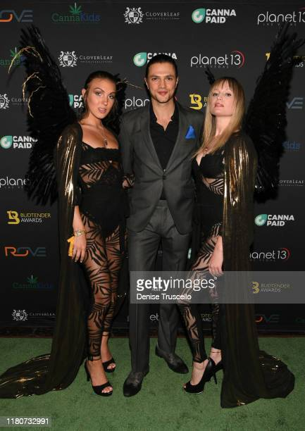 Jessica Webber Misha Crosby and Kelly Pantaleoni arrive at the First Budtender Awards at Light Nightclub at Mandalay Bay Hotel and Casino on October...