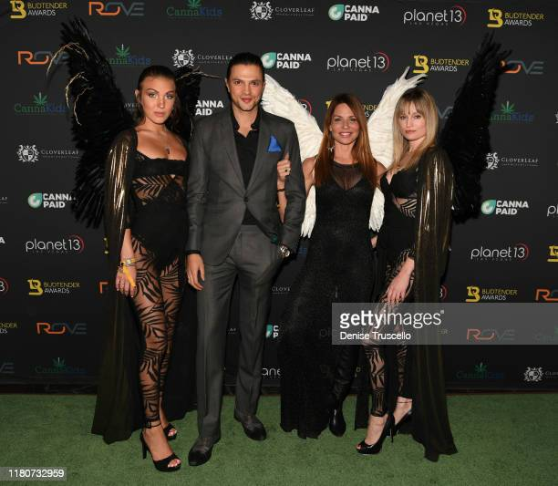 Jessica Webber Misha Crosby Jenae Alt and Kelly Pantaleoni arrive at the First Budtender Awards at Light Nightclub at Mandalay Bay Hotel and Casino...
