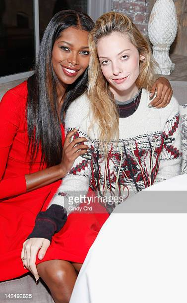 Jessica White and Cory Kennedy attend the Rica Swimwear launch VIP cocktail reception at Villa Pacri on April 5 2012 in New York City