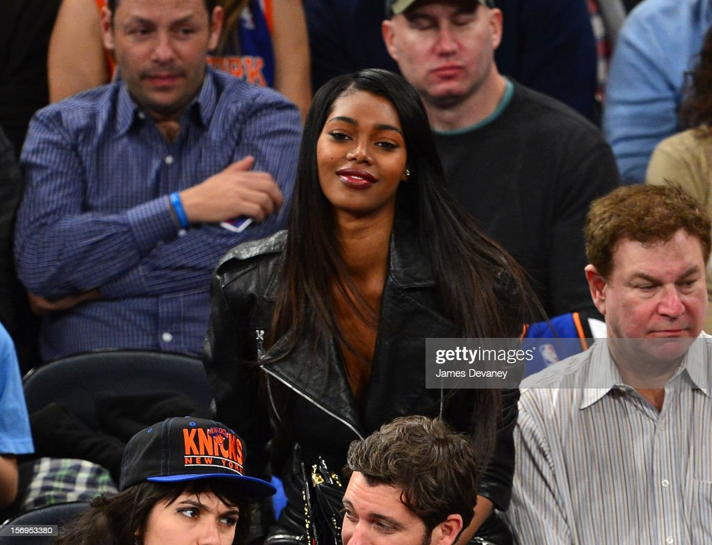 Jessica White attends the Detroit Pistons vs New York Knicks game at Madison Square Garden on November 25, 2012 in New York City.