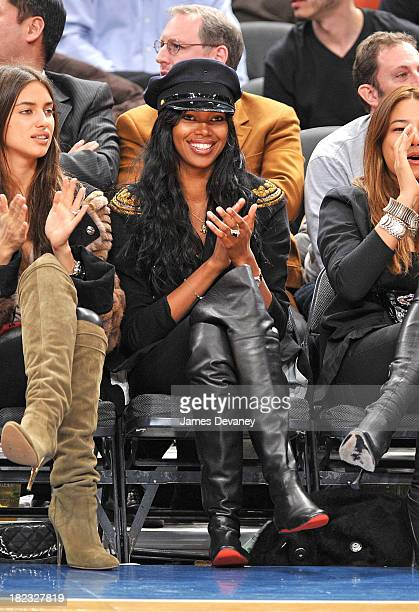 Jessica White attends the Detroit Pistons vs New York Knicks game at Madison Square Garden on March 3 2010 in New York City