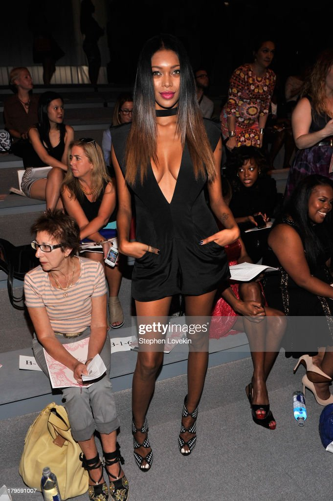 Jessica White attends the Tadashi Shoji Spring 2014 fashion show during Mercedes-Benz Fashion Week at The Stage at Lincoln Center on September 5, 2013 in New York City.