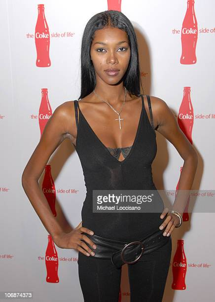 Jessica White during CocaCola's Coke Side Of Life Launch Party with a Performance by NeYo March 30 2006 at Capitale in New York City New York United...