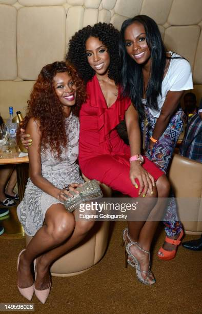 Jessica White Kelly Rowland and Tika Sumpter attend TW Steel Jordy Cobelens unveiling of the new TW Steel Kelly Rowland Special Edition watches at...