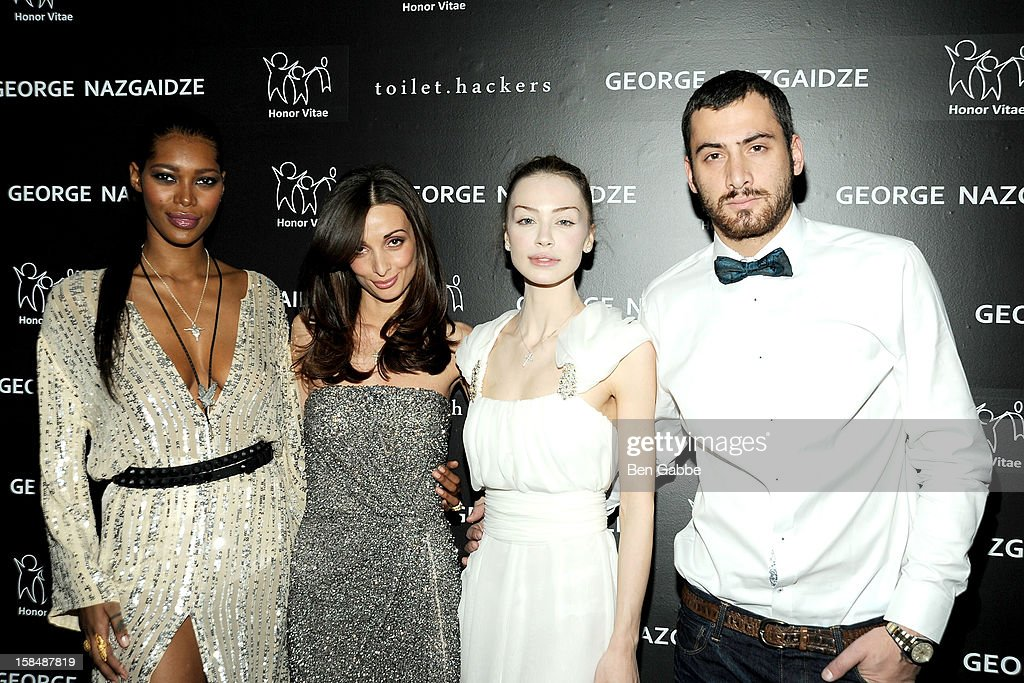 Jessica White, Mariam Kinkladze, Ani Amiridze and George Nazgaidze attend Charity Meets Fashion Holiday Celebration Honoring The World's Children at Affirmation Arts on December 17, 2012 in New York City.