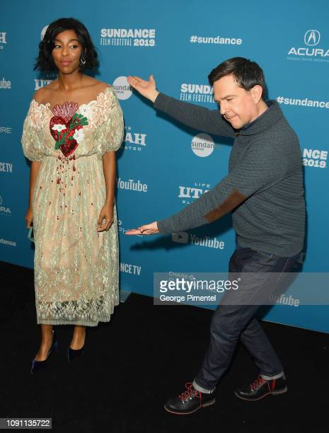Jessica Williams and Ed Helms attend the Corporate Animals Premiere during the 2019 Sundance Film Festival at Eccles Center Theatre on January 29...