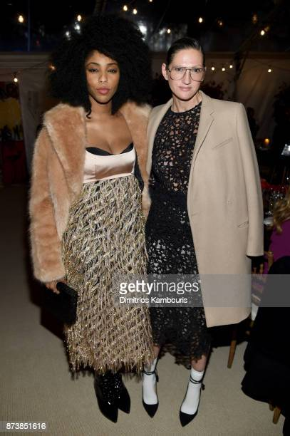 Jessica Williams and Jenna Lyons attends Glamour's 2017 Women of The Year Awards at Kings Theatre on November 13 2017 in Brooklyn New York