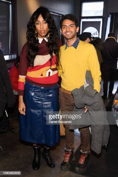 Jessica Williams and Karan Soni attend The Vulture Spot during Sundance Film Festival on January 28 2019 in Park City Utah