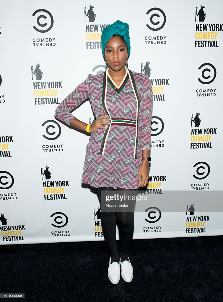 Jessica Williams attends Comedy Central's New York Comedy Festival kick-off party on November 3, 2016 in New York City.