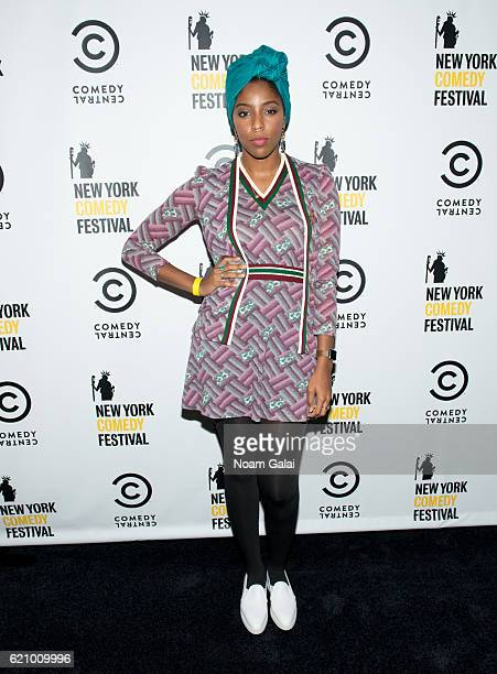 Jessica Williams attends Comedy Central's New York Comedy Festival kickoff party on November 3 2016 in New York City