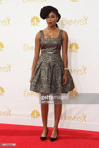 Jessica Williams attends the 66th Annual Primetime Emmy Awards held at Nokia Theatre LA Live on August 25 2014 in Los Angeles California