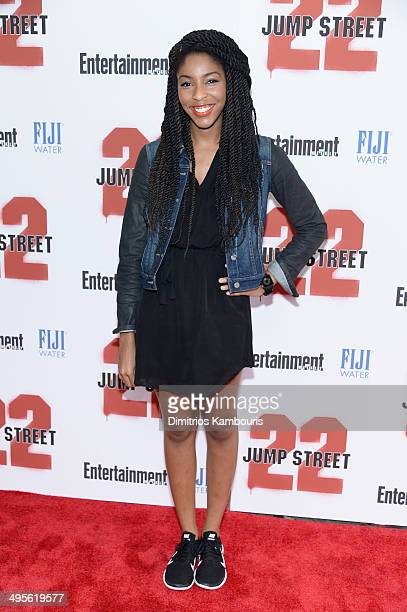 Jessica Williams attends the New York screening of '22 Jump Street' at AMC Lincoln Square Theater on June 4 2014 in New York City