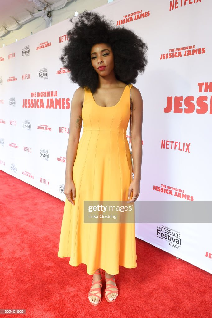 Jessica Williams attends the Premiere Of Netflix Original Film 'The Incredible Jessica James' At The 2017 Essence Festival on July 1, 2017 in New Orleans, Louisiana.