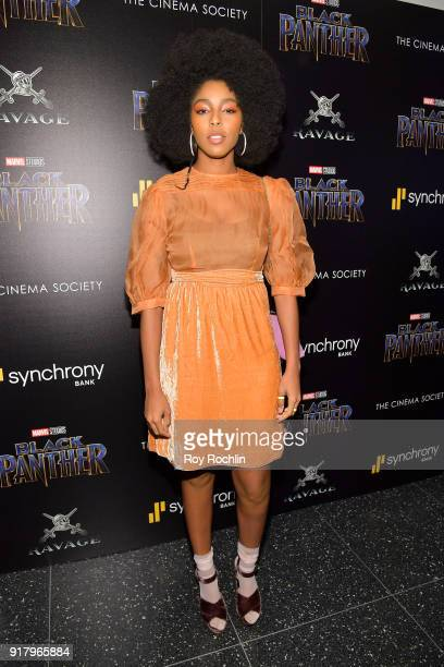 Jessica Williams attends the screening of Marvel Studios' Black Panther hosted by The Cinema Society on February 13 2018 in New York City