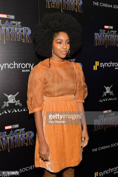Jessica Williams attends the screening of Marvel Studios' 'Black Panther' hosted by The Cinema Society on February 13 2018 in New York City