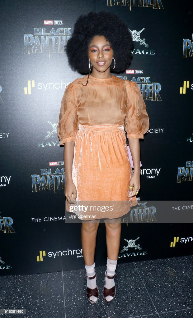 Jessica Williams attends the screening of Marvel Studios' 'Black Panther' hosted by The Cinema Society with Ravage Wines and Synchrony at Museum of Modern Art on February 13, 2018 in New York City.
