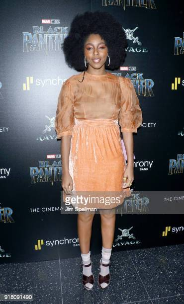 Jessica Williams attends the screening of Marvel Studios' 'Black Panther' hosted by The Cinema Society with Ravage Wines and Synchrony at Museum of...