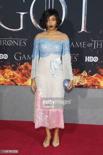Jessica Williams attends the Season 8 premiere of Game of Thrones at Radio City Music Hall on April 3 2019 in New York City