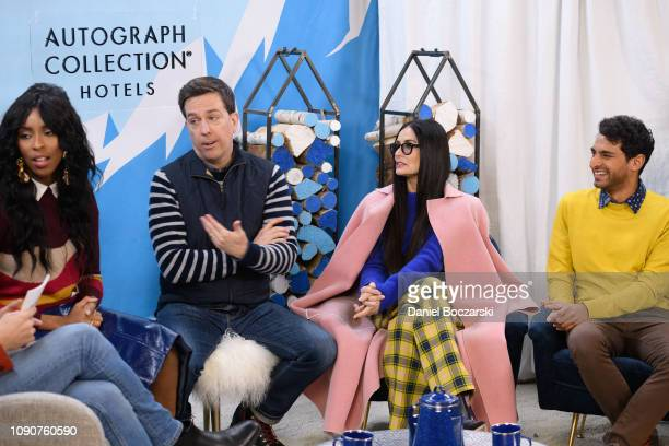 Jessica Williams Ed Helms Demi Moore and Karan Soni attend The Vulture Spot during Sundance Film Festival on January 28 2019 in Park City Utah