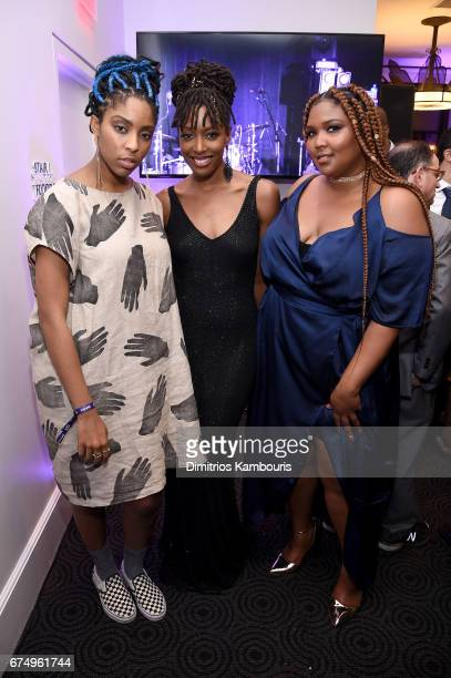 Jessica Williams, Franchesca Ramsey, and Lizzo attend Full Frontal With Samantha Bee's Not The White House Correspondents' Dinner After Party at the...
