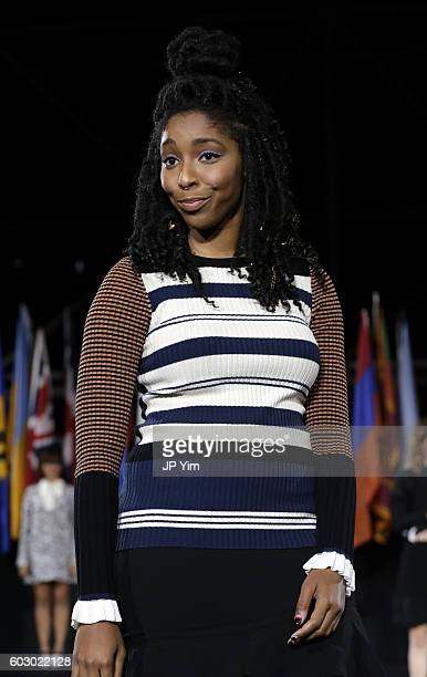 Jessica Williams walks the runway during the Opening Ceremony fashion show during New York Fashion Week at Jacob Javits Center on September 11 2016...