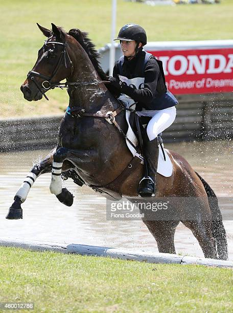 Jessica Woods of Ohaupo riding Defies Logic during the Puhinui International Three Day Event on December 6 2014 in Auckland New Zealand