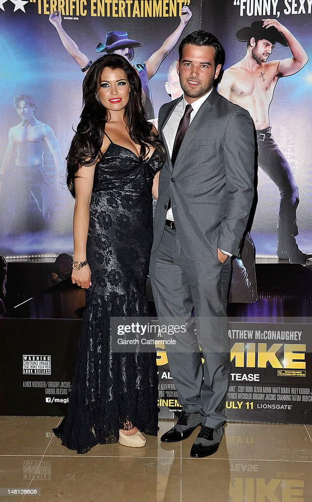 Jessica Wright and Ricky Rayment attend the European premiere of Magic Mike at The Mayfair Hotel on July 10, 2012 in London, England.