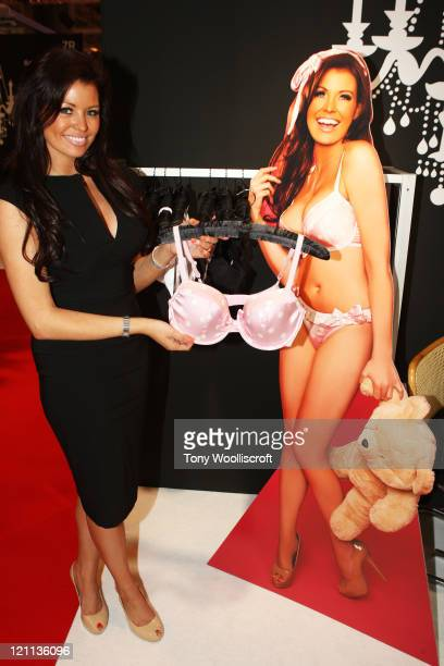 Jessica Wright Announces New Alexis Smith Lingerie Line at NEC Arena on August 14 2011 in Birmingham England