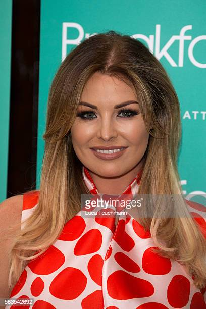 Jessica Wright arrives for the opening night of Breakfast at Tiffany at Theatre Royal on July 26 2016 in London England