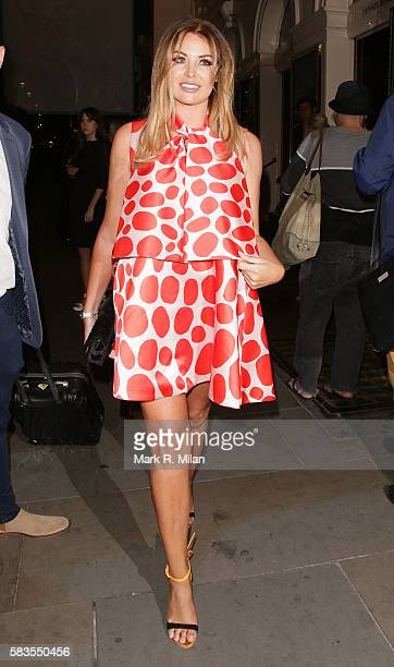 Jessica Wright attending the 'Breakfast at Tiffany's' play press night at the Theatre Royal Haymarket on July 26 2016 in London England