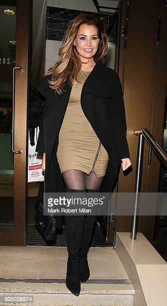 Jessica Wright attending the launch of Britain's Next Top Model at Kensington Roof Gardens on January 14 2016 in London England
