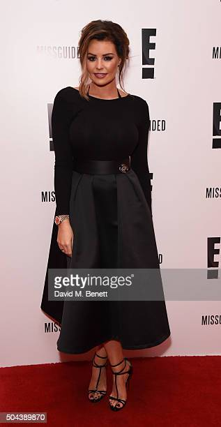 Jessica Wright attends E's Live From The Red Carpet Golden Globes Watch Along Party heldat St Martin's Lane Hotel on January 10 2016 in London England