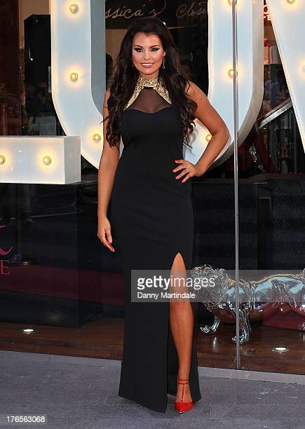 Jessica Wright attends her launch of a new popup store at Westfield Stratford City on August 15 2013 in London England