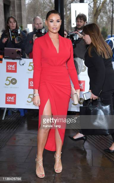 Jessica Wright attends the 2019 'TRIC Awards' held at The Grosvenor House Hotel on March 12, 2019 in London, England.